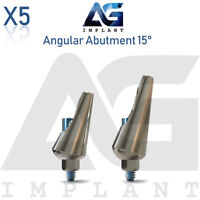 5 Angular Abutment 15° Aesthetic Titanium For Dental Implant Internal Hex