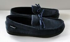 ISOTONER Men's Corduroy Slippers Navy Size 9.5 - 10.5 Pre-Owned