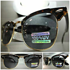 New CLASSIC VINTAGE Old School 60s RETRO Style SUN GLASSES Tortoise & Gold Frame