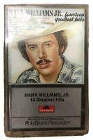 Hank Williams Jr. 14 Greatest Hits Cassette Tape Polygram Records 1976 Vintage