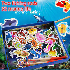 Biology Learning & Education 2019 New Style Rrandom Wooden Fishing Educational Toys For Children Biology Ocean Animals Magnets Puzzles Board Funny Teaching Aids Kids Toy
