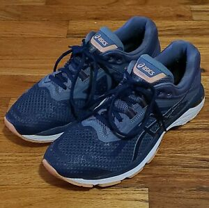 Asics Womens T855N GT-2000 6 Blue Running Training Shoes Sneakers US 9.5 EUC