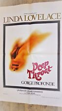 GORGE PROFONDE deep throat linda lovelace affiche cinema  erotique vintage 1972
