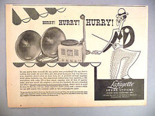 Lafayette Sound Systems PRINT AD - 1946 ~~ turntable, speakers, stereo