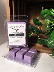 Handmade LAVENDER Soy Blend Wax Melts 2.75 Oz Candle Warmer Cube Tarts