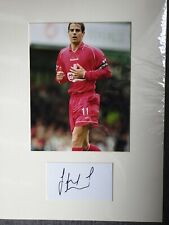 Jamie Redknapp liverpool and England hand signed 16x12 mounted coa 1311