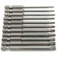 """11Pcs 1/4"""" Torx Star Head Hex Shank Screwdriver Drill Bit Tool Set Large Torque"""