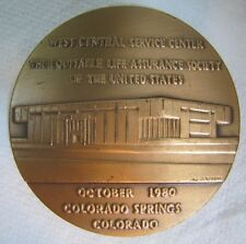 Vtg Paperweight The EQUITABLE LIFE ASSURANCE SOCIETY of the US Lrg Medallion