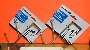 Over the Door Hook Essentials Chrome Plated Two Hooks. Lot of 2. A+Seller.