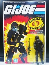 NEW G.I.JOE BLACK MAJOR CUSTOM NIGHT OPS TERROR TROOPER MOC.