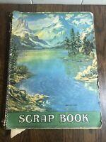 Vintage Spiral Scrapbook Half-Filled with LIFE OF CHRIST Ephemera/Religious Art
