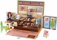 Takara Tomy Doll Playhouse Toy Set Rika chan Mister Donut shop From Japan