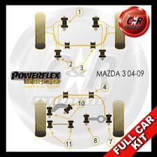 Mazda 3 MPS (04-09) 12mm Wishbone Bolt Powerflex Black Complete Bush Kit