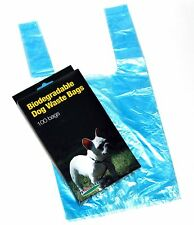 100 DOG PET WASTE POOP BAGS WITH HANDLES Blue by Petoutside Made In USA