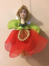Christmas Ornament porcelain Russian Doll  National Costume Snegurochka