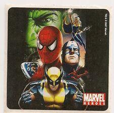 2007 MARVEL HEROES STICKER #1 WOLVERINE SPIDERMAN HULK STORM CAPT AMERICA HULK