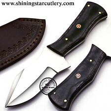 Custom Hand Made 3/8x8 D2 Tool Steel Hunting Knife W/Sheath