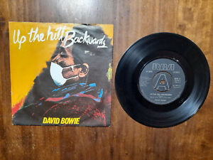 """DAVID BOWIE-""""UP THE HILL BACKWARDS/CRYSTAL JAPAN"""", 45 GIRI IN  OTTIME CONDIZIONI"""