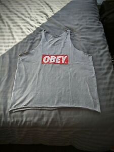 Obey Tank Top Skater Singlet Sleeveless Tee XL Extra Large