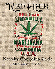 Red Hair Sinsemilla Novelty cannabis burlap