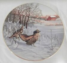 In Disiplay: Ruffed Grouse Collector Plate by Darrell Bush