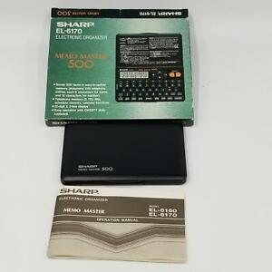 Sharp EL-6170 Electronic Organizer Memo Master 500 Personal Assistant Box New