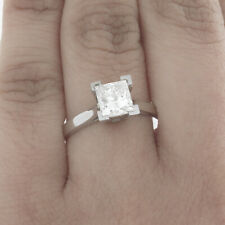 GIA Certified Diamond Engagement Solitaire Ring 0.70 CT Princess Cut 14k Gold
