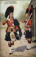 Scottish Military Tartan Kilt Uniforms Postcard BLACK WATCH ROYAL HIGHLANDERS
