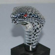 Chrome Cobra Snake Red LED Eye Car Manual Gear Shift Knob Handle Shifter Lever