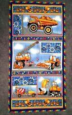 Hard Hats Fabric Panel Construction Truck Equipment Quilt Shop Quality Cotton