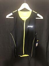 ZOOT - Men's Performance Tri Tank Triathlon - Black Yellow - Small