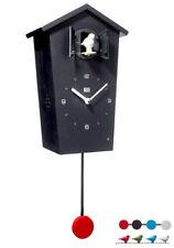 KooKoo Birdhouse Orologio Nero Nuovo/Scatola Originale Design Moderno Orologio a cucù 4 uccelli/pendolo