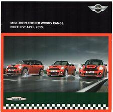 Mini John Cooper Works Specification 2010 UK Market Brochure Hatch Clubman Conv