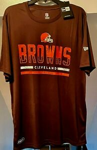 CLEVELAND BROWNS OFFICIAL NFL COMBINE TRAINING NEW ERA MENS BROWN T-SHIRT NWT