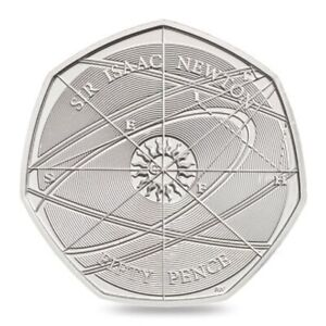 2017 SIR ISAAC NEWTON 50P FIFTY PENCE UNCIRCULATED - OFFICIAL UK ISSUE
