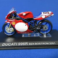 DUCATI 996R BEN BOSTROM 2001 IXO 1:24 Motorcycle Scale Model Toy