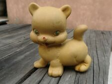 VTG 1950's MEXICAN REMPEL RUBBER CUDDLY KITTY CAT SQUEAKY TOY SQUEEZE MEXICO