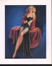 "Billy Devorss Created ""A Dancing Darling"" Blonde in Sheer Black Lace  1940 10x12"