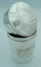 More details for solid silver cylinder box - sultanate of oman arabian peninsula muscat