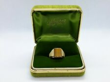 Vintage 10K GOLD TIGERS EYE MEN'S RING. Helzbergs Designer.