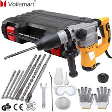 2000W Electric Hammer Drill Demolition Rotary Chuck SDS Plus Bit Set 2 Chisels