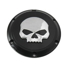 Black Skull Derby Cover for 2004-2014 Harley Sportster XL Models
