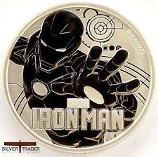 2018 1oz Iron Man Marvel Series 1 ounce Silver Bullion Coin unc: