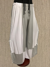 Myo- Lagenlook 3-d Jersey-Pants Hellgrau-Weiss One Size 82 Cm Waist