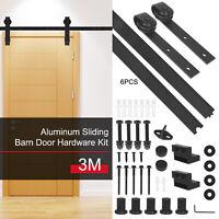 3M Sliding Barn Door Hardware Track Roller Kit Low Noise for Bathroom Bedroom