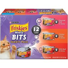 Purina Friskies Meaty Bits Variety Pack Adult Wet Cat Food - (2 Packs of 12) 5.5