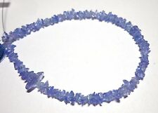 "25.80 Cts 8"" Natural Tanzanite Chips Fancy Shape Gemstone Beads JP41.14"
