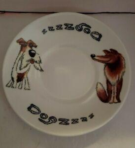 DOG Salad Plate fine bone china, Made In England, ROY KIRKHAM 2007