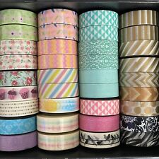 Lot of 36 Washi Tape Brand New Assorted colors and Patterns