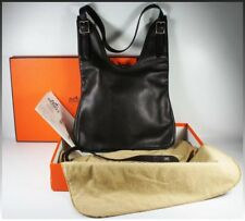 Hermes Massai PM Handbag, Purse, Bag, Dark Brown, Orig Box, Rcpt: $2975, Used Tw